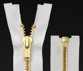 Zíper de metal 04.5 médio destacável dourado YKK ref. YGROR 456 c/ 1 un