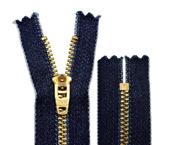 Zíper de metal 04.5 médio fixo dourado jeans YKK ref. YGRC 459 CJIN c/ 1 un