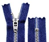 Zíper de metal 04.5 médio fixo niquelado jeans YKK ref. YNRC 459 CJIN c/ 1 un