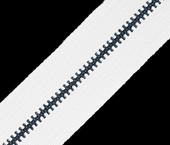 Zíper de metal 03 fino oxidado escuro  YKK ref. 03 MGTK CH por metro