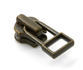 Cursor para zíper de metal 04.5 médio YKK ref. 45 Y DADHR5 I ouro velho c/ 1 un