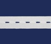 Elástico para casear de embutir 18 mm São José ref. Casear 4018 branco c/ 25 m
