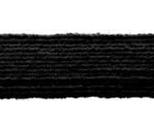 Elástico de embutir São José ref. Pigeon preto c/ 100 m