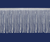 Franja de viscose branca 150 mm São José ref. 8250/BC c/ 10 m