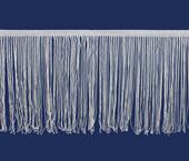Franja de viscose branca 200 mm São José ref. 8350/BC c/ 10 m