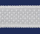 Elástico decorado Elastan ref. Julia 42 mm branco por metro