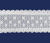 Elástico decorado Elastan ref. Julia 28 mm branco por metro