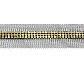 Tule com manta dourada 03 cm Porfírio ref. SGHBJO25-2 por metro