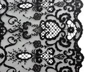 Renda de algod�o 140 cm preta Porf�rio ref. MFHB016-1 por metro