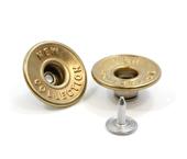 Botão flexível de latão 20 mm Eberle ref. BT1.200.90.VZ.EC.L0130511 c/ 250 un