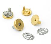Botão magnético de latão dourado 14,5 mm Eberle ref. BT8.145.10.L DOU c/ 100 un