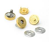Botão magnético de latão dourado 18,5 mm Eberle ref. BT8.185.10.L DOU c/ 100 un