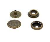 Botão de pressão ferro 15 mm Eberle ref. BT7.150.100.6.F SOL c/ 200 un