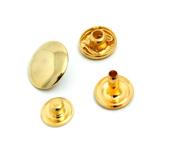 Colchete de pressão 14 mm dourado Eberle ref. CC7.140.12.7.AB.L c/ 250 un