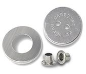 Botão para forrar 2 ilhoses Cardenas 32 mm c/ 144 un