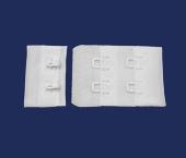 Cadarço de poliamida c/ colchetes Terlizzi ref. DA 160 DPL branco c/ 100 un