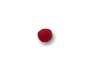 Pompom crochet 10 mm Britânnia ref. 8084/1 c/ 10 un