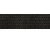 Cadarço de algodão 30 mm preto haco ref. 4000 c/ 25 m