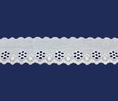 Tira bordada 45 mm branca Hoepcke ref. 006216 c/ 9,15 m