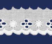 Tira bordada 30 mm branca Hoepcke ref. 006352 c/ 9,15 m