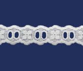 Tira bordada 20 mm branca Hoepcke ref. 050323 c/ 9,15 m