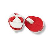 Botão infantil de plástico Sp ref. boné vermelho c/ 24 un