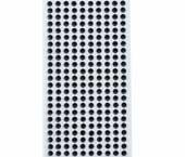 Cartela adesiva 06 mm SP ref. pedra preta c/ 450 un