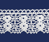 Renda de algodão 045 mm Ipiranga ref. 1930 c/ 10 m
