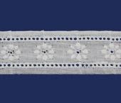 Tira bordada 35 mm branca Trufana ref. 10804 c/ 13,80 m