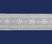 Tira bordada 36 mm branca Trufana ref. 21324 c/ 13,80 m