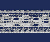 Renda de algodão 026 mm FB ref. B561 c/ 30 m