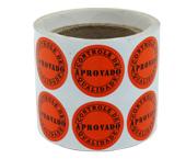 Etiqueta adesiva controle de qualidade vermelha Reidma c/ 10 m