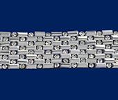 Tira de strass/ vidrilho Lulitex ref. TSVT6002 CRYSTAL c/ 4,8 m