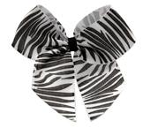 Laço de cetim estampado Canal Paulista ref. Animale zebra c/ 25 un