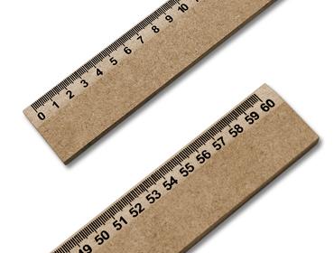 Régua de madeira MDF Kas Maq c/ 60 cm