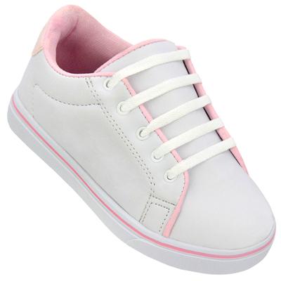 Tênis feminino 16000 Branco/Rosa
