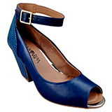 Sapato Peep Toe  Ramarim Marinho 1445104