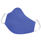 Mascara em Tecido Lavável Reutilizável Azul Royal