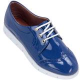 Sapato feminino Oxford Kalyta 4006 Azul
