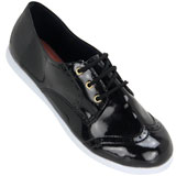 Sapato feminino Oxford Kalyta 4007 Preto Verniz
