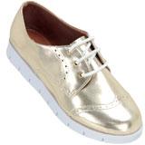 Sapato feminino Oxford Kalyta 4006 Ouro Light