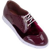 Sapato feminino Oxford Kalyta Camurça 4008 Bordo