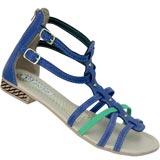 Sandália Gladiadora Flavia 532 Azul/Verde