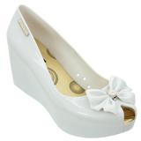 Sapato Feminino Miss Miss Peep Toe 9670 Branco