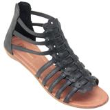 Sandália feminina Gladiadora 100 Preto
