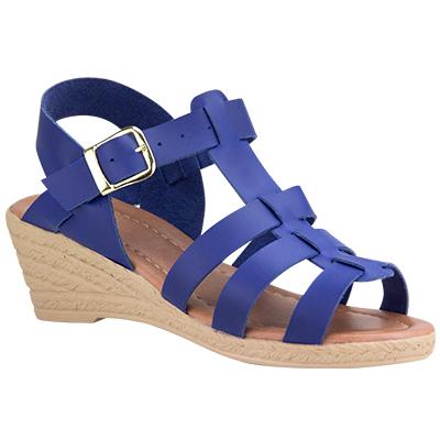 Sandália Anabela Azul 1100