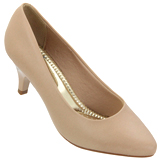 Sapato feminino Beira Rio 4076.150 Bege Napa
