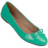 Sapatilha Feminina Atenas Color 9219212 Verniz Verde