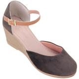 Sapato feminino Via Bella de Veludo 1134 Café
