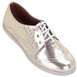 Sapato feminino Oxford Kalyta 4007 Ouro Light
